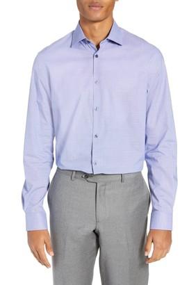 John Varvatos Regular Fit Stretch Houndstooth Dress Shirt
