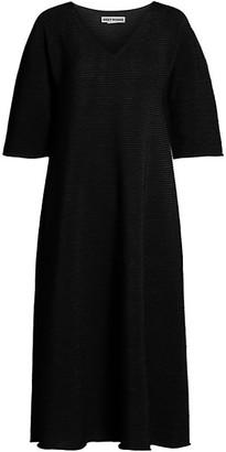 Issey Miyake Paper Circle Knit Midi Dress