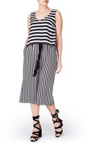 Plus Size Women's Elvi Stripe Jumpsuit
