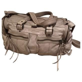 Zadig & Voltaire Rock Ecru Leather Handbags