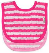I Play green sprouts® 2-Pack Muslin Stripe Bibs in Pink