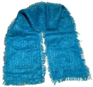 Dolce & Gabbana Turquoise Wool Scarves