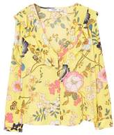 MANGO Ruffles printed blouse