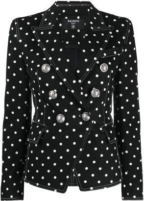 Balmain Polka Dot Structured Blazer