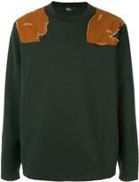 Kolor contrast shoulder panel jumper