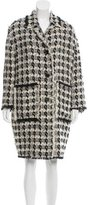 Rochas Wool Raw-Edge Coat w/ Tags