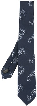 Dolce & Gabbana Seahorse-Print Tie