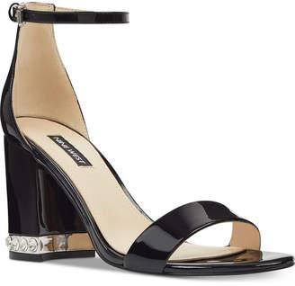Nine West Abigail Block-Heel Sandals Women Shoes