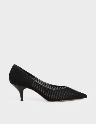 Charles & Keith Mesh Pointed Toe Court Shoes