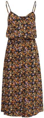 Ichi Clara Dress - S - Black/Yellow/Orange