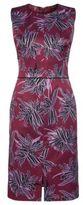 HUGO BOSS Klenni Satin Sheath Dress 0 Patterned