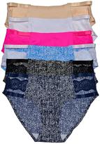 B.ella Solid & Print Lace-Accent Seamless Bikini Brief Set