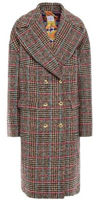 Stella Jean Double-breasted Wool-blend Boucle-tweed Coat