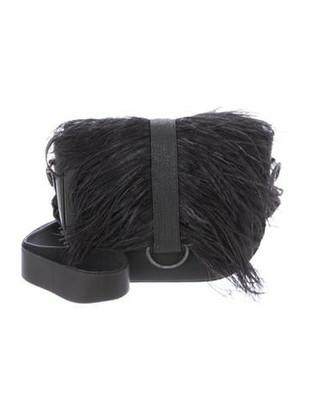 Brunello Cucinelli Feather-Accented Crossbody Bag