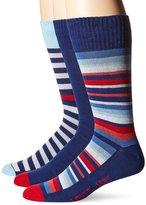 Levi's Men's 3-Pack Multi Stripe Crew Socks