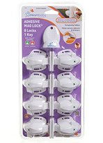 Dream Baby Dreambaby Adhesive Mag Locks - 8 Locks, 1 Key - White