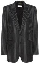 Saint Laurent Striped Wool Blazer