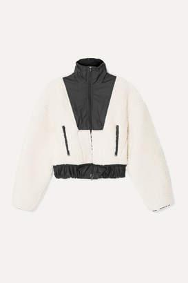 3.1 Phillip Lim Cropped Shell-paneled Wool-blend Fleece Bomber Jacket - Neutral