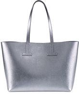 Tom Ford Small T Saffiano Tote Bag, Silver