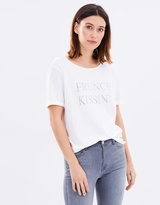 Maison Scotch French Kissing Oversized Tee