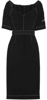 Dolce & Gabbana Belted Stretch-crepe Dress
