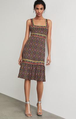 BCBGMAXAZRIA Printed Square Neck Dress