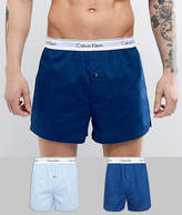 Calvin Klein Modern Cotton Woven Boxers 2 Pack in Slim Fit