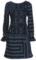 Fendi Printed Denim Dress