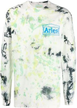 Aries Tie-Dye Print Sweatshirt