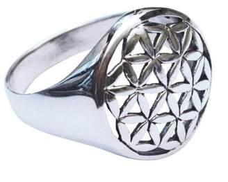 Saraswati Unisex Silver Statement Ring - AS293