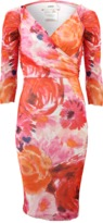 Fuzzi Drape Floral Print Dress