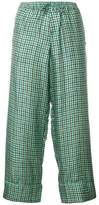 Pierre Louis Mascia Pierre-Louis Mascia cropped tailored trousers