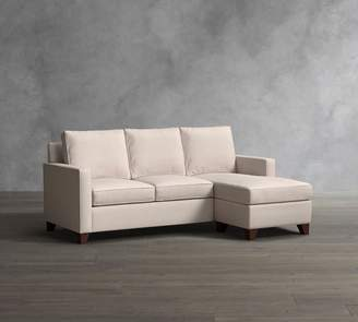 Pottery Barn Cameron Square Arm Upholstered Sleeper Sofa With Reversible Storage Chaise