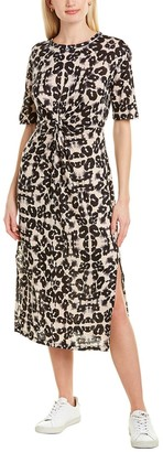 Rebecca Taylor Kaleidoscope Linen Midi Dress