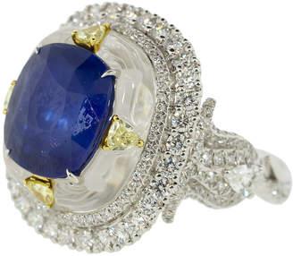 Saboo Fine Jewels Sapphire Diamond Crystal Ring