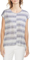 Vince Camuto Striped Cap Sleeve T-Shirt