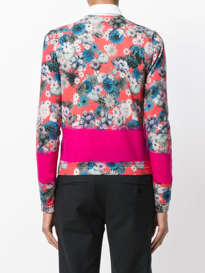 Paul Smith floral print cardigan