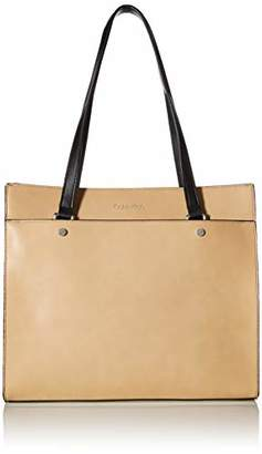 Calvin Klein Leo Smooth PU Novelty East/West Boxy Large Tote
