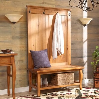 Three Posts Finleyville Solid Wood Hall Tree with Bench