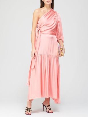 Paper London Neily One Shoulder Dress - Pink