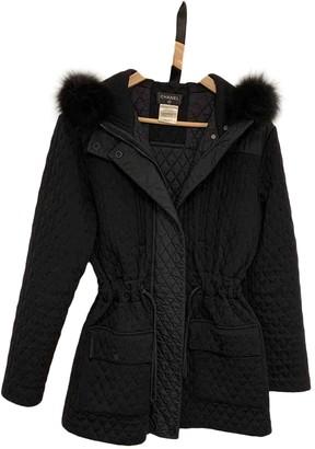Chanel Black Fur Coat for Women