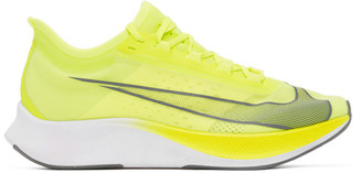 Nike Green and Grey Zoom Fly 3 Sneakers