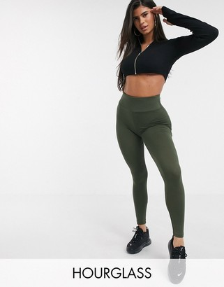 ASOS DESIGN Hourglass leggings with deep waistband