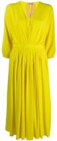 No.21 v-neck flared midi dress