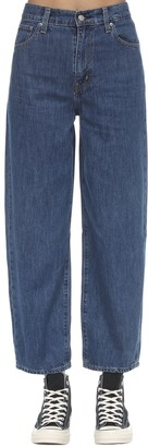 Levi's High Rise Mom Fit Cotton Denim Jeans