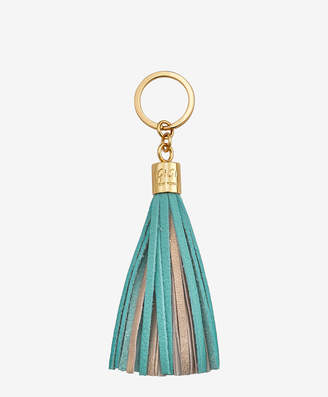 GiGi New York Tassel Key Chain, Bermuda Blue and Gold