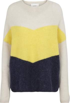 Just Female Pale Yellow Herle Knit - S - Natural/Yellow/Black