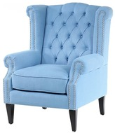 Duck Egg Blue Duke Wingback Armchair