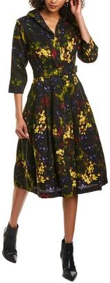 Samantha Sung Audrey Wool & Silk-Blend Shirtdress