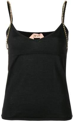 No.21 embellished strap vest top